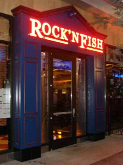 Rock 39 n fish two l a live for Rock n fish restaurant